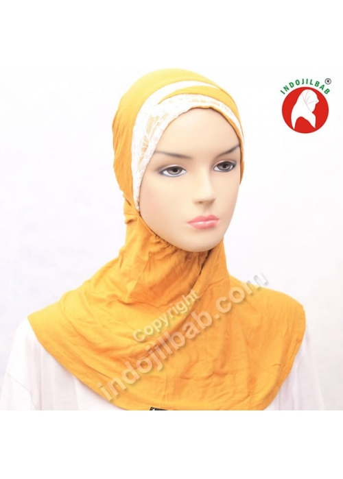 Ciput Maroko Renda Kuning