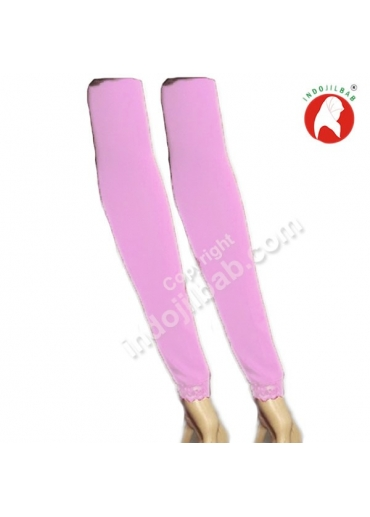 Manset Lengan Renda Pink