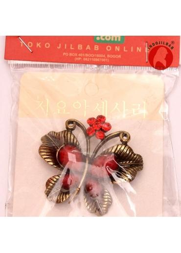 Bros Butterfly 3 Merah 001