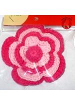 Bros Bunga Rajut Pink 002