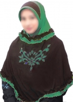 Nida Rania Coklat - Hijau