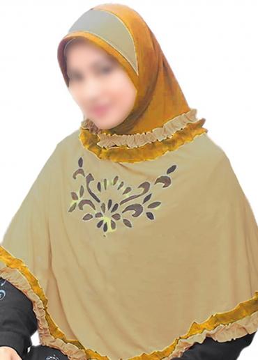 Nida Rania Coklat - Kuning Kunyit