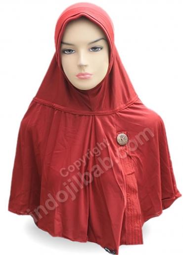 Aisyah Polos Merah 001