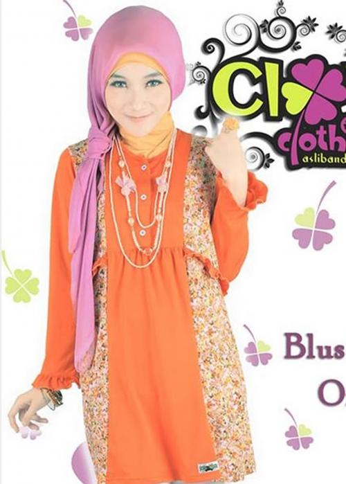 Blus Fania Orange