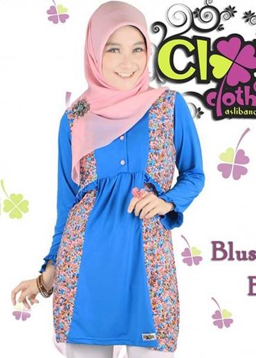 Blus Fania Blue