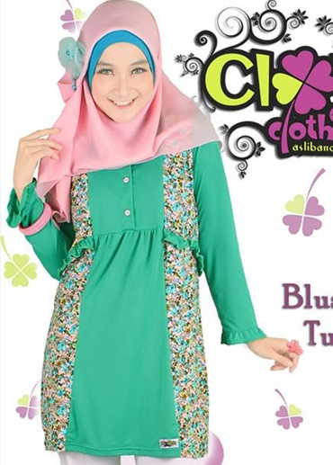 Blus Fania Turquoise
