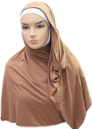 Cotton Shawl Pashmina Coklat 001