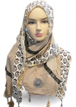 Shawl Rose Coklat 001