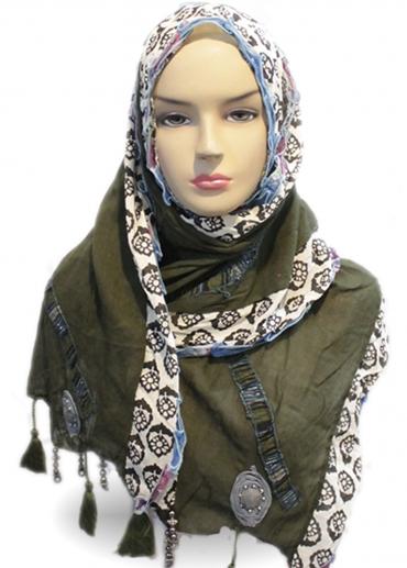 Shawl Rose Hijau 001