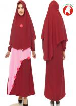 Azra Set Pink Maroon (PO)