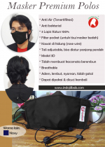 Masker Premium Polos Black