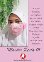 Masker Pesta Pink 01