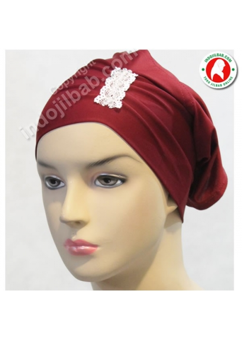 Ciput Arab Poni Swarovski Merah 001