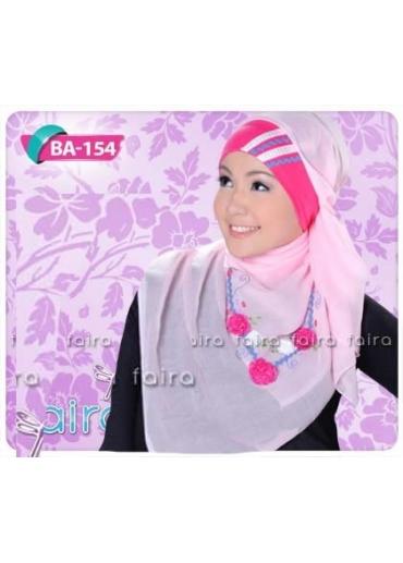 BA154-BN150 Pink (Jilbab & Bandana)