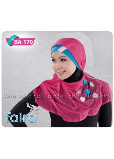 BA170 - BN 166 Pink (Jilbab & Bandana)